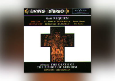 Verdi: Messa da Requiem / Menotti: The Death of the Bishop of Brindisi