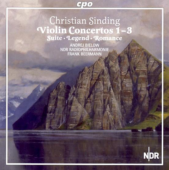 03 cpo; Sinding; Violin Concertos 1-3