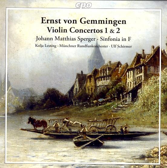 08 cpo; Gemmingen, Violin Concertos