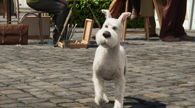 (L to R) Snowy in THE ADVENTURES OF TINTIN: THE SECRET OF THE UNICORN.