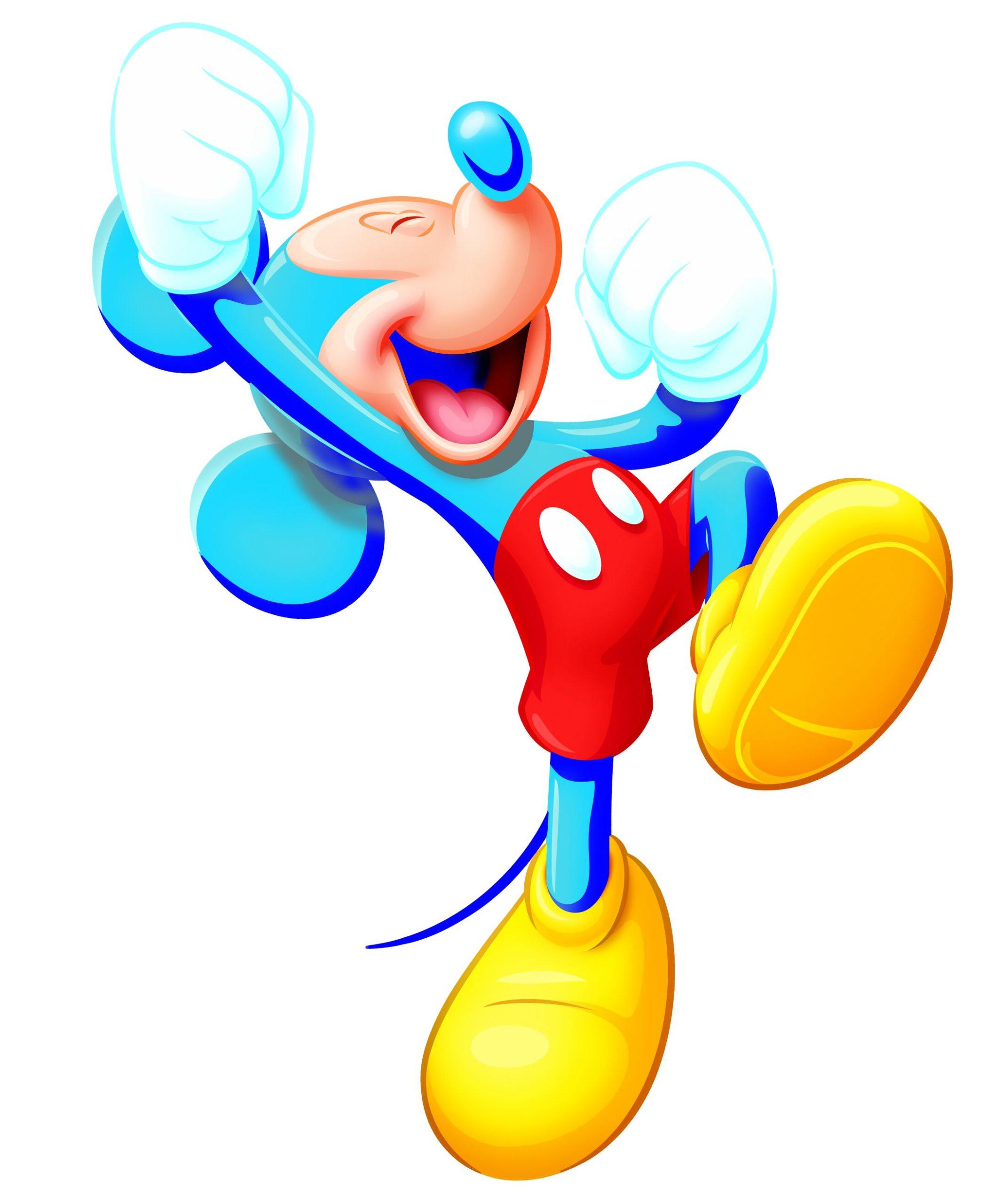 Jubelnde Mickey Maus