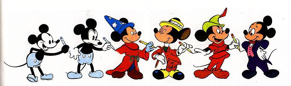 Micky Maus im Wandel der Jahre (pic)