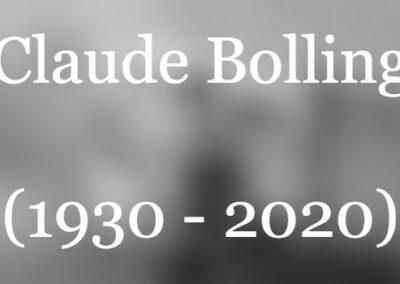 Claude Bolling gestorben