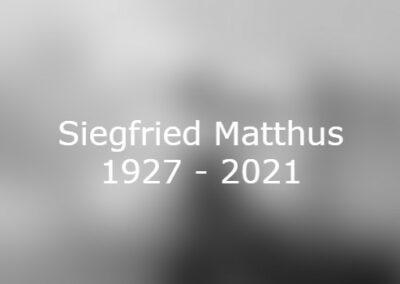 Siegfried Matthus gestorben